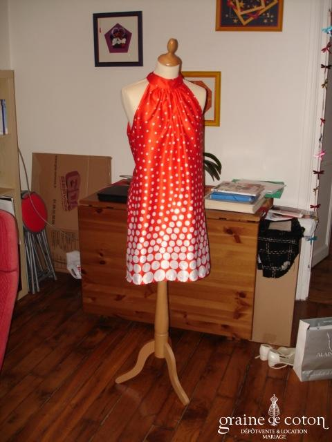 Sinéquanone - Robe tunique rouge et blanche (non stocké en boutique, essayage sur demande)