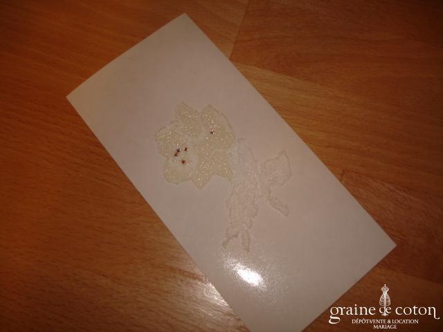 Cymbeline - Tatouage de peau en dentelle, forme fleur