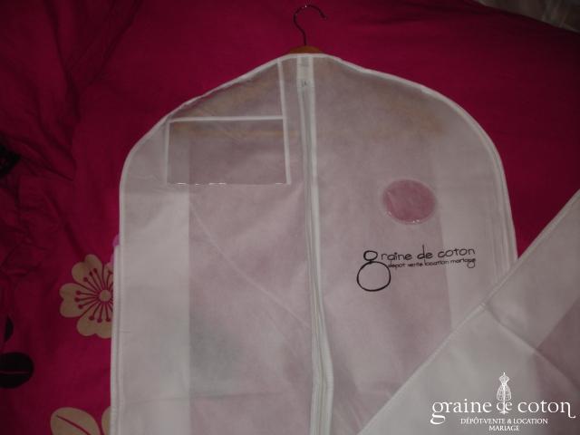 Housse Graine de coton pour robe de mariée - TNT 50g