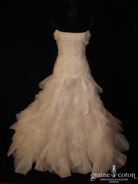 Mariées de Paris - Robe taille basse en organza ivoire (prototype)
