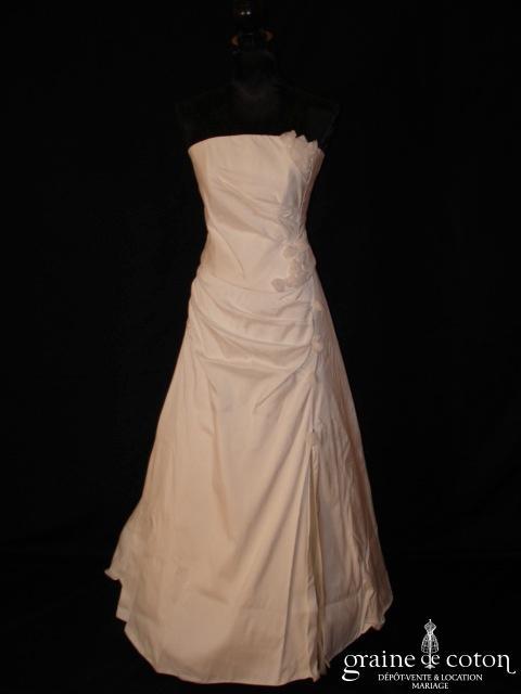 Cala - Robe deux pièces en soie sauvage ivoire clair