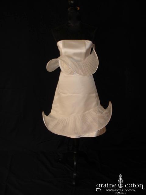 Suzanne Ermann - Suzy (robe courte satin volute organza soie tulle)
