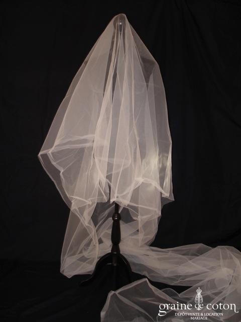 Catherine Puget - Voile tulle ivoire de 4 mètres