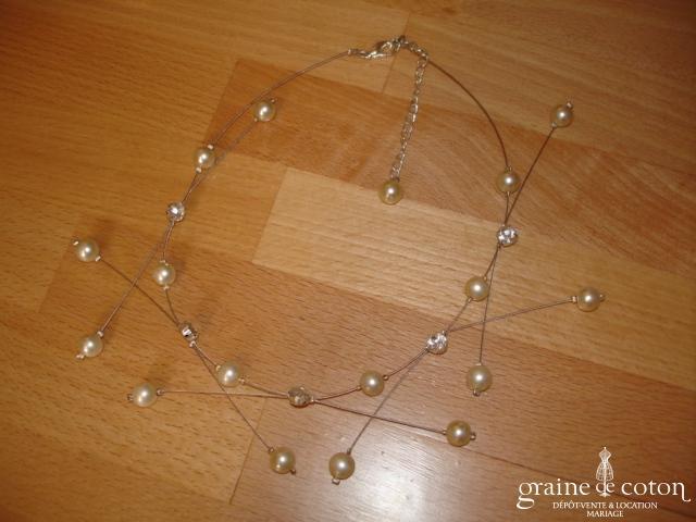 Crinoligne - Collier de perles ivoires