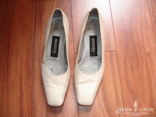 Marisa - Escarpins (chaussures) en tissu champagne