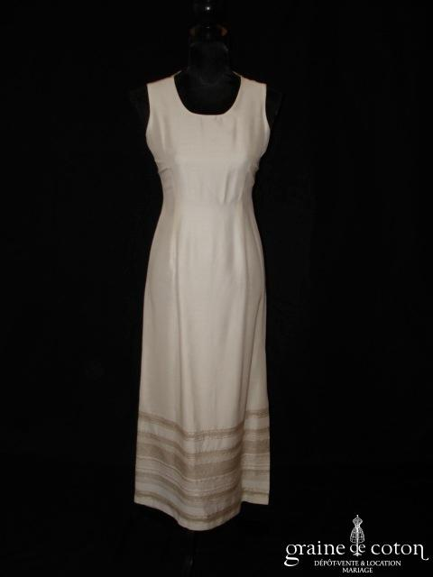 Caroll - Robe mi longue ivoire