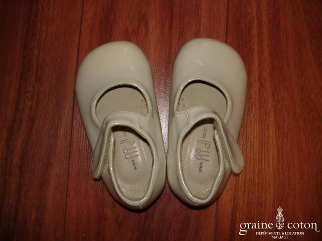 Babies (chaussures) vernies ivoire