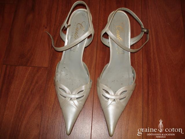 Carla Selvone - Escarpins (chaussures) ivoire nacré