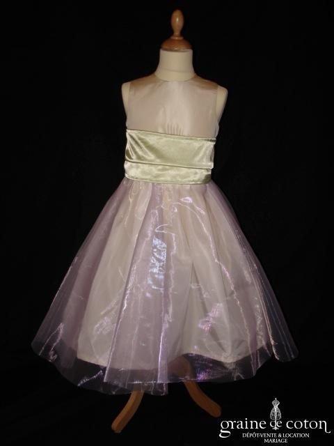Graine de coton - Jupon / sur jupe en organza parme pour robe de demoiselle d'honneur
