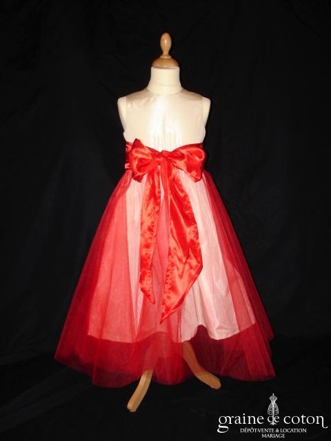 Graine de coton - Jupon / sur jupe en tulle rouge pour robe de demoiselle d'honneur