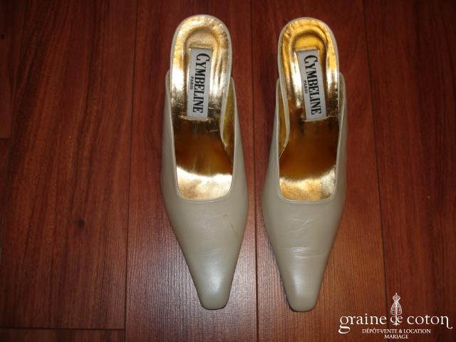 Cymbeline - Mules (chaussures) ivoire nacré