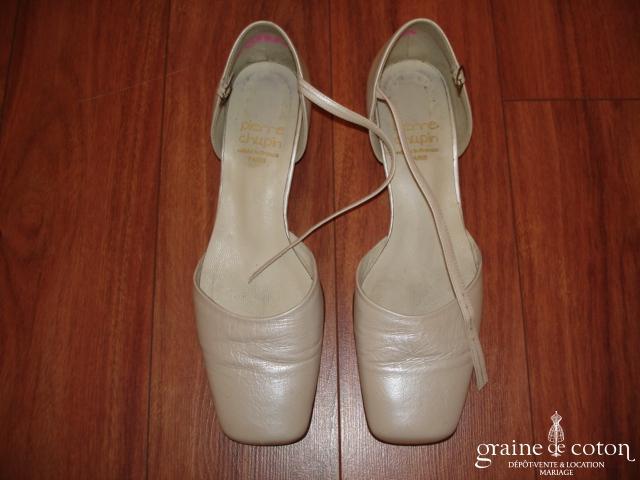 Pierre Chupin - Escarpins (chaussures) en cuir ivoire nacré