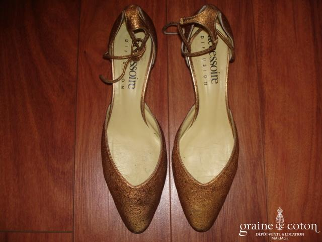 Accessoire - Amyra Métal - Escarpins (chaussures) cuivre pailleté