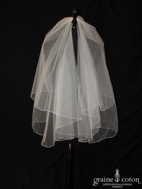 Les mariées d'Elodie - Voile court en tulle ivoire