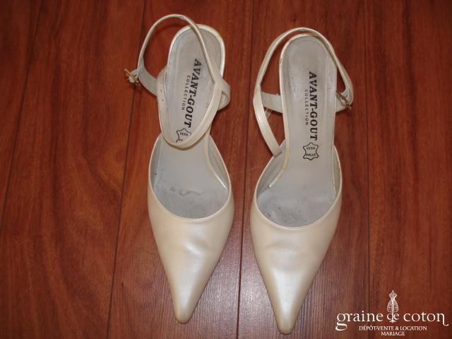 Avant Goût - Escarpins (chaussures) en cuir blanc