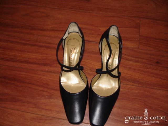 Chaussures Scarpin en cuir bleu marine