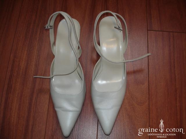 Pronuptia - Escarpins (chaussures) en cuir ivoire