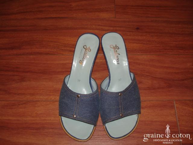 Mules (chaussures) façon jean