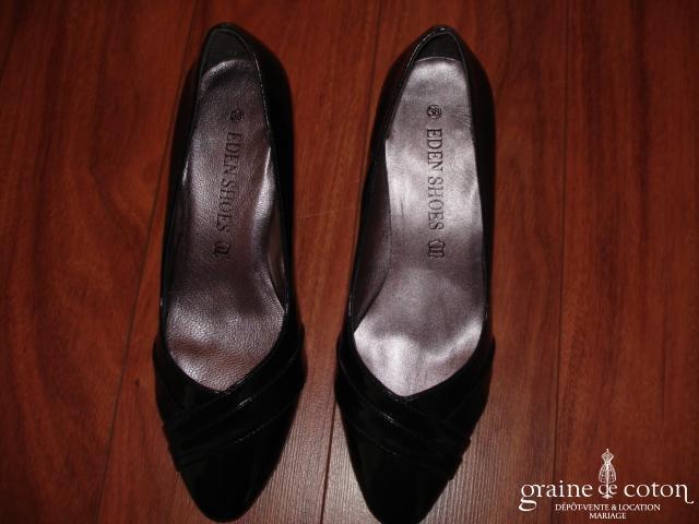 Eden Shoes - Escarpins (chaussures) bleu noir vernis