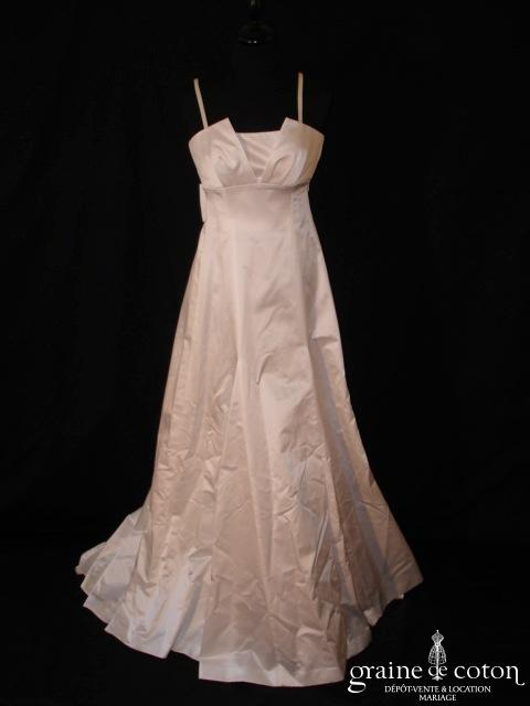 123 Collection Mariage - Charlotte (satin de coton empire bretelles)