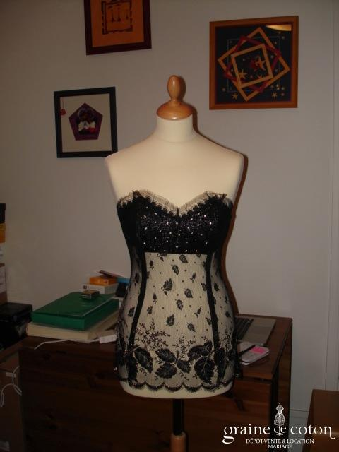 Création Roselyne Desti - Bustier noir et or