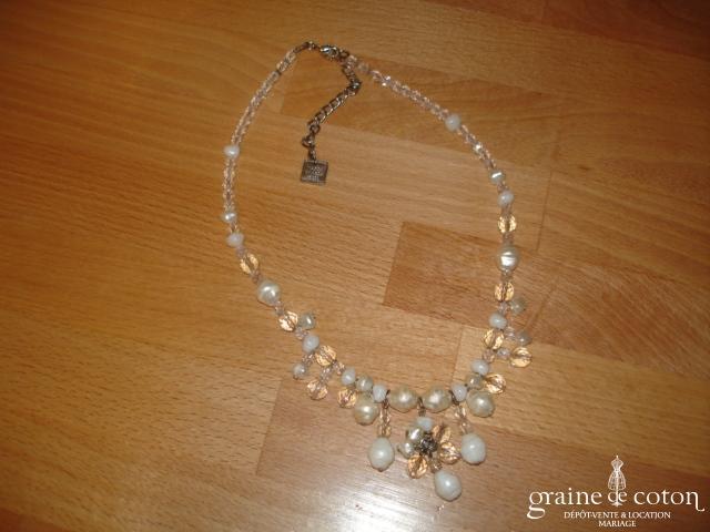 Maria Grazia Musi pour Linea Raffaëlli - Collier (tour de cou) en perles nacrées et transparentes