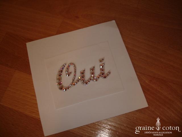 Au fil perlé - Bijou de peau Oui en cristal AB de Swarovski