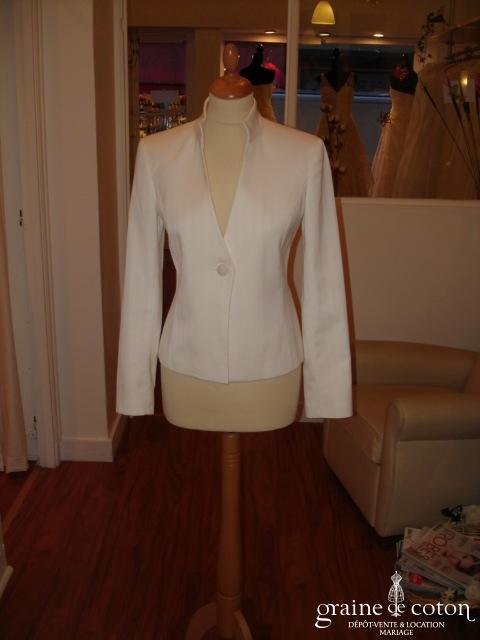 Zara - Veste blanche décolletée en V