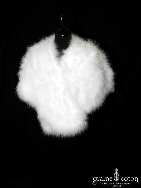 Étole / cape en duvet de cygne blanc (E11 plumes fourrure)