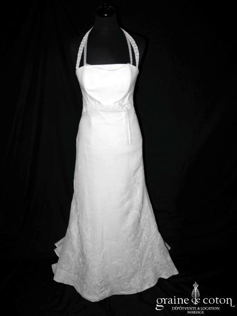 Mariées de Provence - Fanette (lin empire tour de cou dentelle)