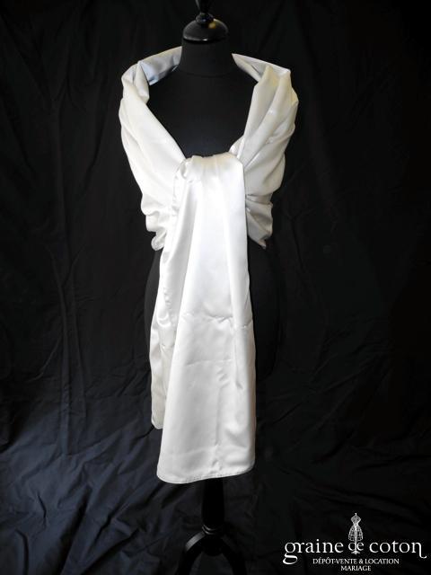 Pronovias - Étole en satin ivoire