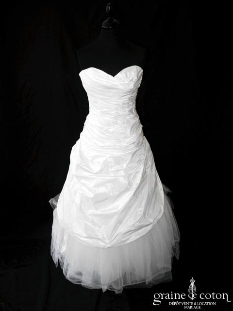 Cymbeline - Caruso (coeur taffetas drapé tulle blanche)