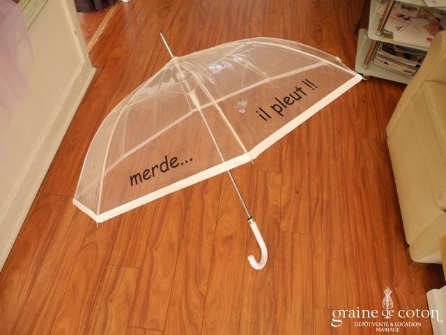 Parapluie transparent Merde il pleut ! ;o)