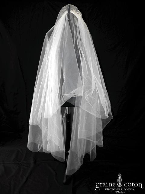 Pronovias - Voile ivoire clair long de 1,50m