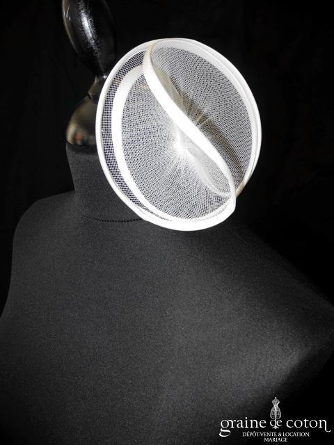 Suzanne Ermann - Cerceau fleur / volutes pour cheveux blanc cassé