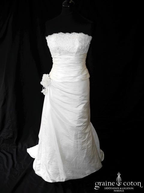 San Patrick (Pronovias) - Cangas (taffetas drapé dentelle)