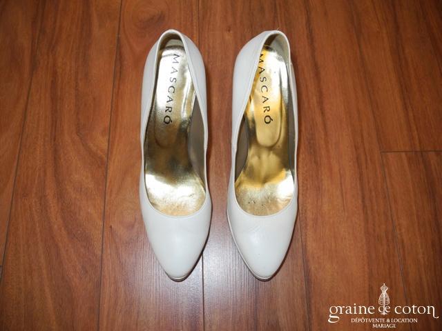 Mascaro - Escarpins (chaussures) en cuir ivoire