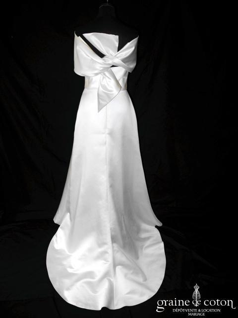 Jesus Peiro - Modèle n°1002a (satin fourreau sirène manches bretelles)