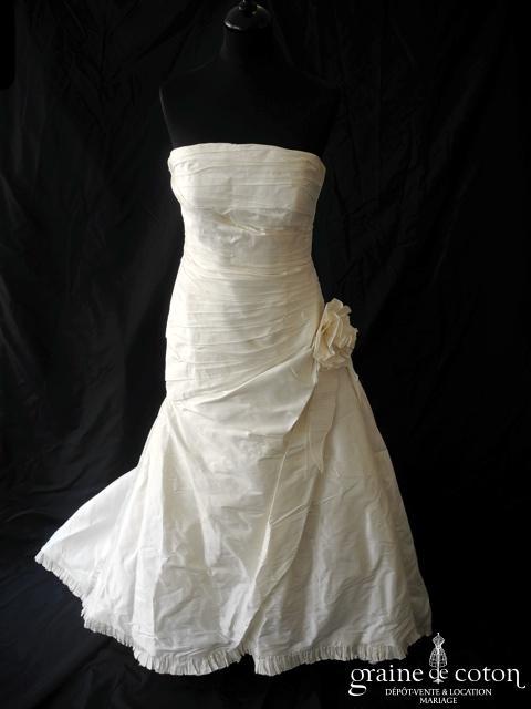 Pronovias - Altéa (soie sauvage drapée taille basse)