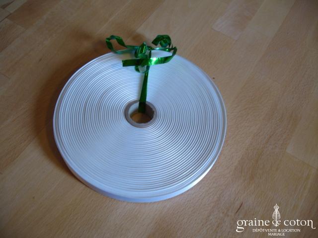 Ruban de satin blanc - au mètre