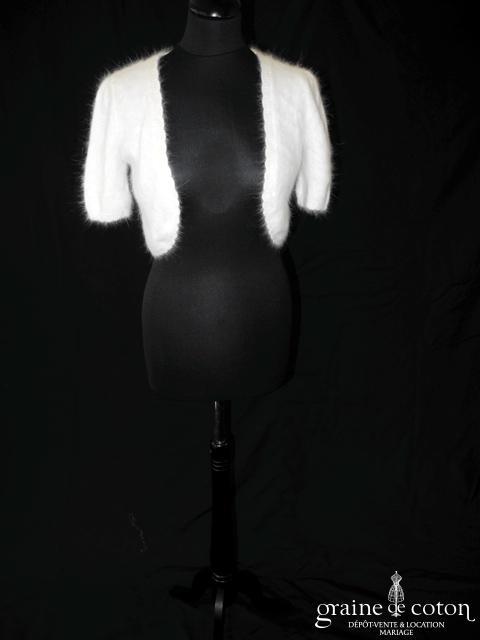 Hitherto - Boléro court en angora ivoire