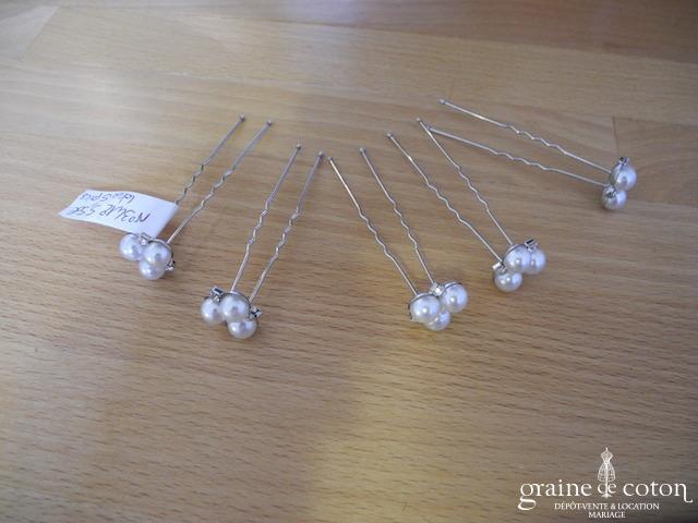 beauté baskets outlet à vendre Claire's – Lot de 5 pics à cheveux perles