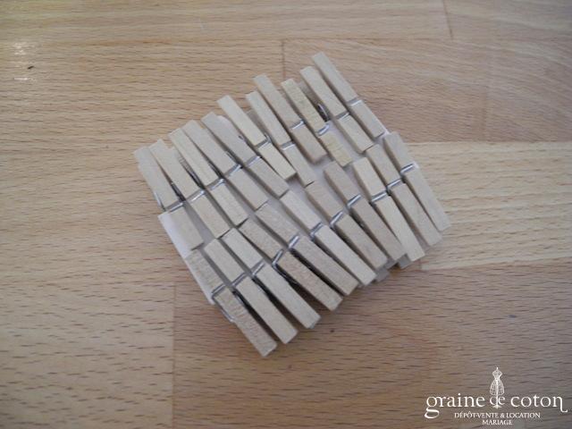 Lot de 22 mini pinces à linge