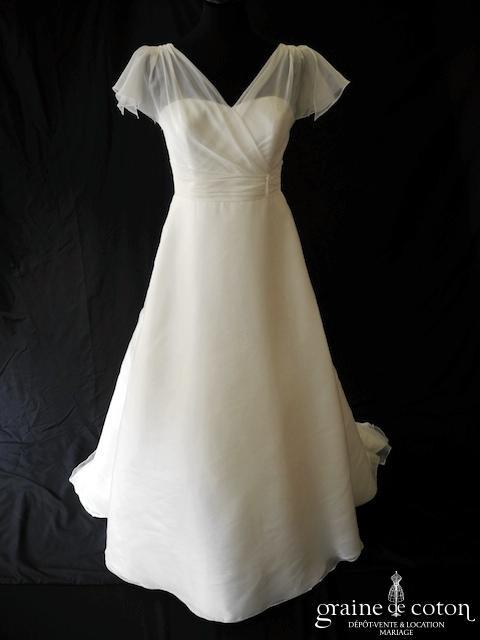 Marylise - Fidelia (organza manches bretelles drapé)