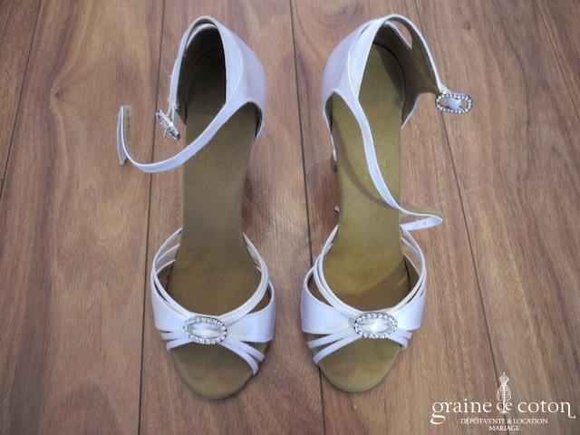 Rummos - Sandales (escarpins) en satin blanc