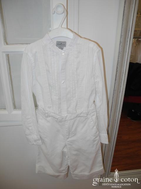 Cyrillus - Ensemble garçon pantacourt et chemise en coton et lin