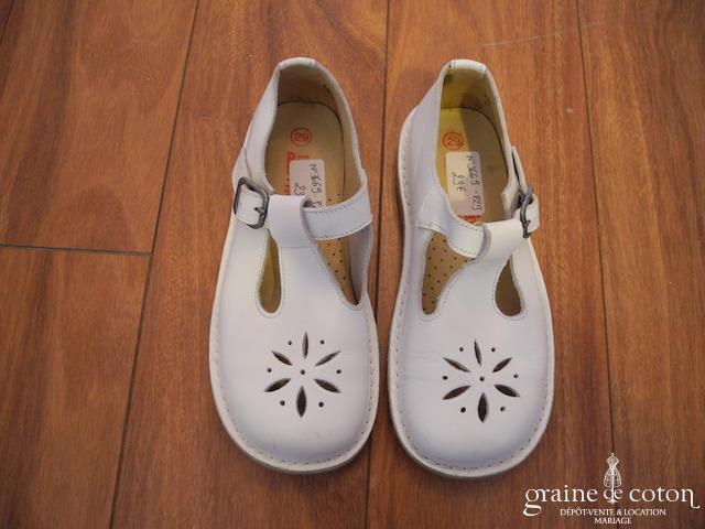 DPAM - Chaussures enfant en cuir blanc