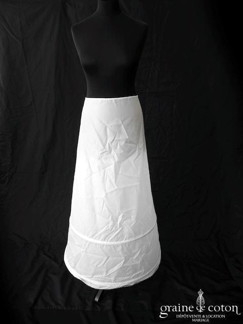 jupon 5007 blanc ou ivoire avec 2 cerceaux - Jupon Mariage 2 Cerceaux