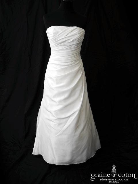 Eglantine Création - Robe en taffetas drapé (dos boutonné)