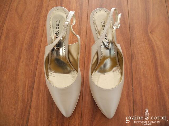 Georgia Rose - Escarpins (chaussures) en cuir ivoire nacré